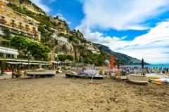 positano-plage Cote Amalfitaine Visites avec Guide